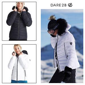 Dare 2B Womens Glamorize II Swarovski Embellished Waterproof Quilted Ski Jacket