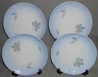 Set (4) Bing and Grondahl FALLING LEAVES PATTERN Salad Plates MADE IN DENMARK