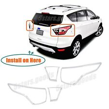Accessories Chrome Rear Taillight Covers Trims For 2017 2018 Ford Escape Suv Fits