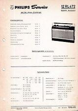 Manuel d'instructions service pour Philips 12 RL 472 , Babette automatique