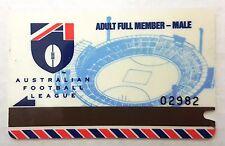 MCG 1993 AFL  Football Adult Full Member - Male Membership Ticket Card