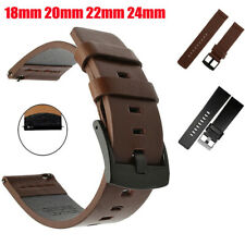 Genuine Leather Watch Band Wrist Strap Quick Release 18mm 20mm 22mm 24mm