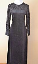 Diane Von Furstenberg Dress Color Authority 1X Black Velvet/velour Long DVF VTG
