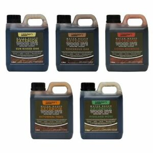 Littlefairs Non-Toxic Water-Based Exterior Wood Stain Wood Dye for Outside Wood