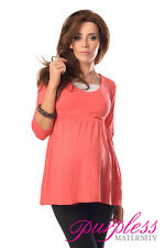 Marvellous Maternity Top Tunic Pregnancy Clothing Size 8 10 12 14 16 18 5200 Coral UK 16
