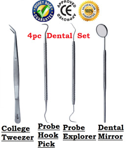 Dental Tooth Cleaning Kit Dentist Scraper Pick Tool Calculus Plaque Remover Set