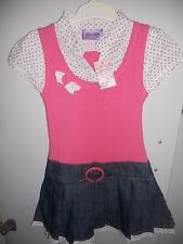 Girls  Pumpkin Patch Spot Shirt Mock Denim  dress  Size 6