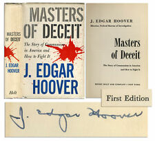 J. Edgar Hoover Signed Copy of ''Masters of Deceit''