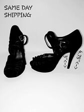 JESSICA SIMPSON Black Suede Stilettos High Heels Size 6.5 B SAME DAY SHIPPING!