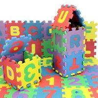 36pcs unisexe enfant puzzle jouet éducatif alphabet lettres chiffre tapis mousse