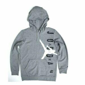 Nike Mens Air Jordan Jumpman Pullover Hoodie - Size Large - Gray/ Black- New