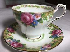 PARAGON BONE CHINA CUP/ SAUCER ENGLAND     TAPESTRY ROSE PATTERN