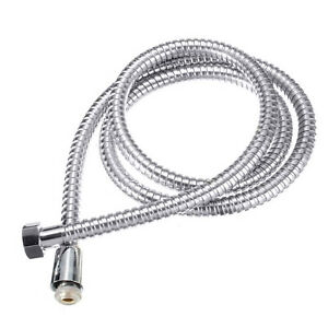 SHOWER HOSE FLEXIBLE STAINLESS STEEL CHROME SHOWER BATHROOM PIPE 1.2/1.5/2/2.5M