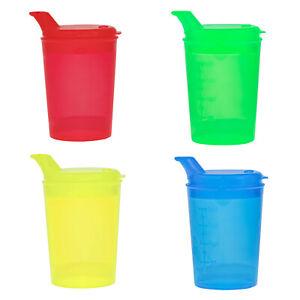 4 Schnabelbecher Schnabeltasse Trinkhilfe in 4 Farben SET Öffnung 12 x10 mm