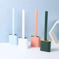 2020 Silicone Toilet Brush with Toilet Brush Holder Creative Cleaning Brush Set