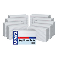"""Oxford Ruled Index Cards, 4"""" x 6"""", White, 1,000 Cards (10 Packs of 41 (1000 PK)"""