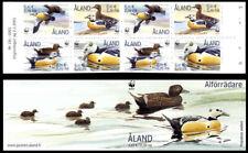 Aland 2001 WWF Endangered Species Birds Stellers Eider Booklet Complete MNH /UNM