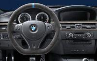 BMW OEM M Performance Steering Wheel Alcantara Blue Strip E90 E91 E92 E93 M3 E82