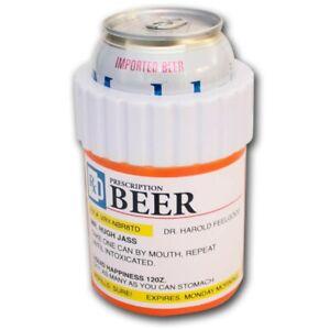 Prescription Bottle Novelty Can Cooler Orange