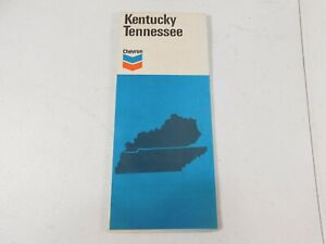 Vintage 1972 Chevron  Road Map of Kentucky Tennessee
