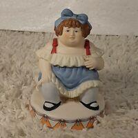 Vintage 1983 Circus Royale Applause Fat Lady Ceramic Figurine #9607