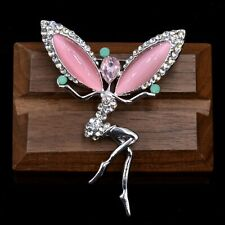 Tinker Bell Little Fairy Brooch Pin with Crystals