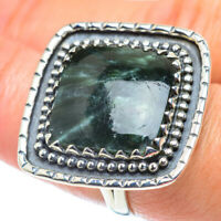 Large Seraphinite 925 Sterling Silver Ring Size 8 Ana Co Jewelry R55817F