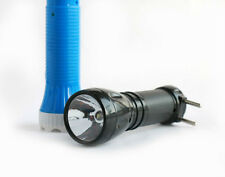 RECHARGEABLE LED TORCH LIGHT PLUG IT IN AND CHARGE THEN USE AGAIN GOOD QUALITY.