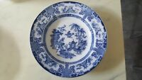 ANTIQUE LARGE SOUP PLATE MALING CHANG BLUE & WHITE