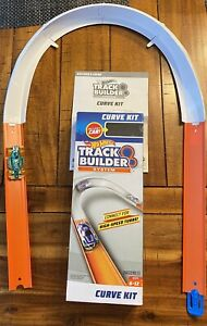 Hot Wheels Track Builder System Curve Kit with Race Car