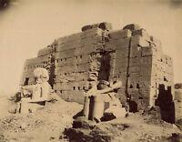 Photo Zangaki Albuminé Egypte Karnak Vers 1875/80