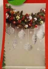 Foil Ornaments JOY PEACE HOPE Stars Embossed/Debossed Decal Christmas Wall Decor