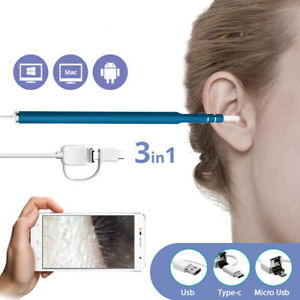 3 In 1 USB Ear Cleaning 6 LED Endoscope 5.5mm Diameter