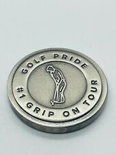 Golf Pride Pro Only Putter Grips Silver Metal Heavy Ball Marker Coin Rare Mint