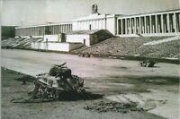 WW II - Usa  Photo --  Destroyed Sherman Tank - Nuremberg Stadium .....