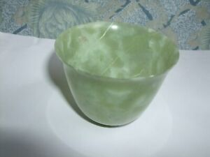 ANTIQUE CHINESE OR JAPANESE JADE OR HARD STONE HAND MADE SMALL BOWL VERY FINE