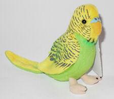 Neuware Vogel Wellensittich Sittich grün 11,5 cm mit Geräuschfunktion