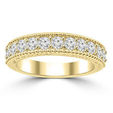 1.10 ct Ladies Round Cut Diamond Wedding Band Ring in Yellow Gold