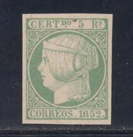 ESPAÑA (1852) NUEVO SPAIN - EDIFIL 15 (5 r) FALSO