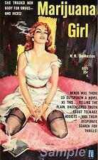Vintage marihuana Girl A4 cartel impresión