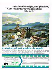 PUBLICITE  1972   NOVIM   immobilier