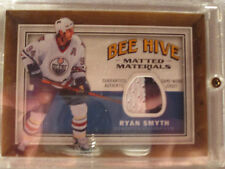 2006-07 UD Bee Hive Hockey #MM-RS Ryan Smyth! Swatch Jersey MEM Oilers Matted