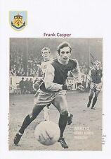 Ralph coates & frank casper burnley rare original hand signed magazine cutting