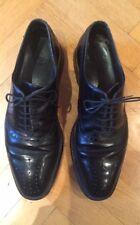 Scarpe da uomo di marca da Boss, taglia 8.5 UK nera in pelle, bella qualità