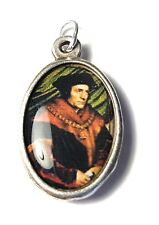"""St Thomas More RELIC 1"""" MEDAL PATRON of large families; lawyers, politicians"""