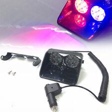 8LED Car Truck Dash Strobe Flash Light Emergency Police Warning 3Mode Red / Blue