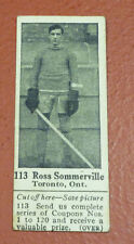 1924-25 Dominion Chocolate Hockey Card Ross Sommerville #113