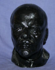 Vintage Russian Metal Head Sculpture Vladimir Lenin Signed