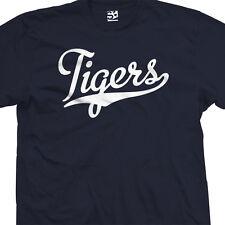 Tigers Script Tail Shirt - High School Sports Baseball Team - All Sizes & Colors