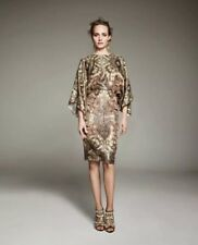 H&M Conscious Exclusive Gold Silk Blend Kimono Dress 12 US NWT
